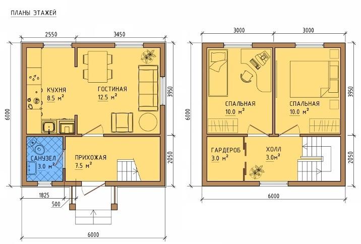 Каркасный дом 8х8 с мансардой своими руками