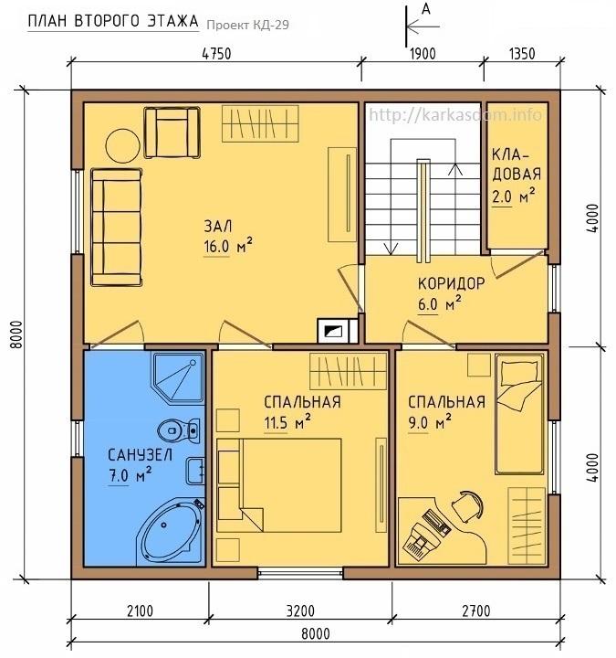 Проекты каркасных домов 100 150 кв м