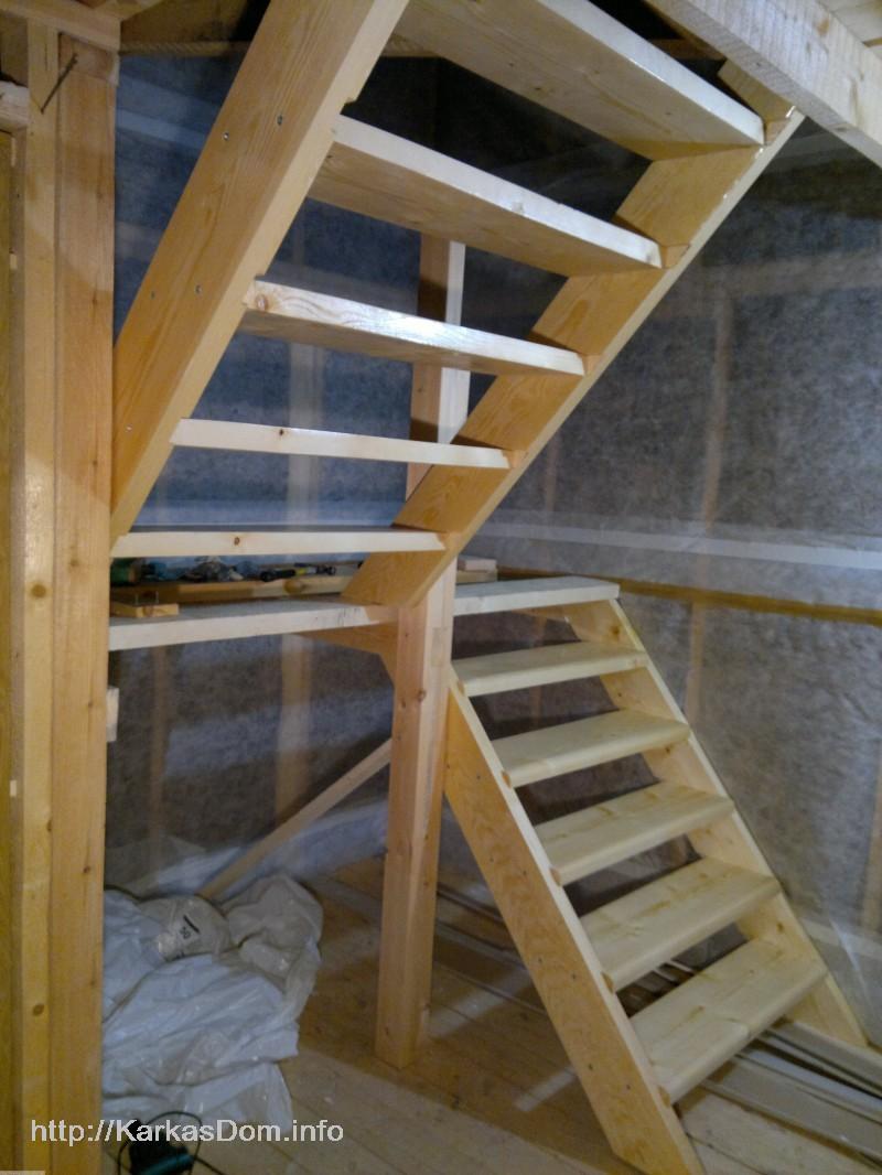 Лестницы на второй этаж своими руками пошаговая  257