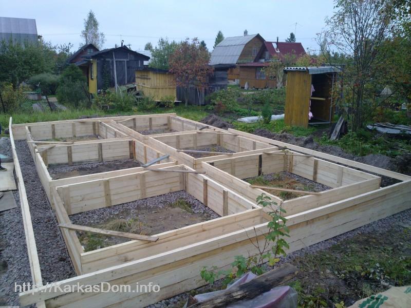 Пошаговое строительство каркасного дома своими руками фото